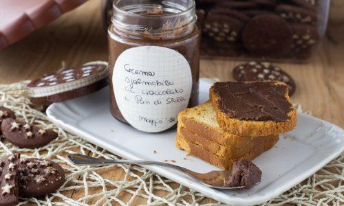 Crema spalmabile al cioccolato nocciole e Pan di Stelle