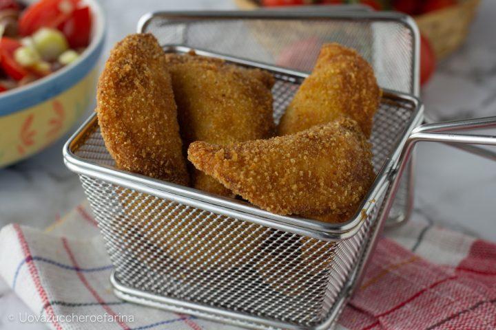 panzerotti ripieni prosciutto mozzarella fritti forno