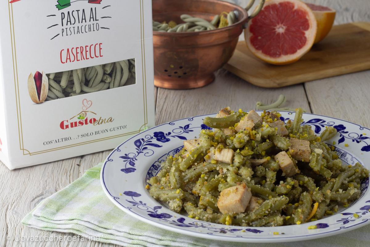 caserecce pistacchio pescespada gusto