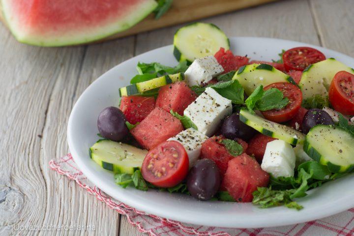 insalata anguria feta cetrioli olive greche