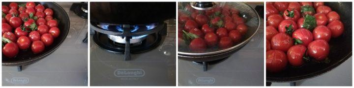 pomodorini padella ricetta passo passo cottura fuoco alto