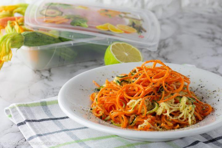spaghetti verdure marinati zenzero