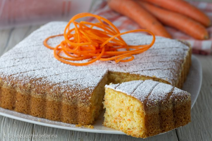 torta semplice carote mandorle prima colazione