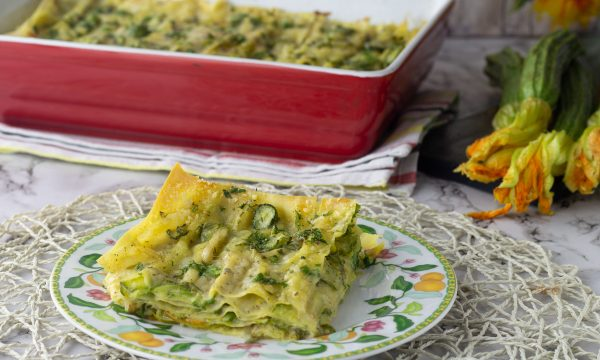 Lasagne alle zucchine con besciamella vegetale