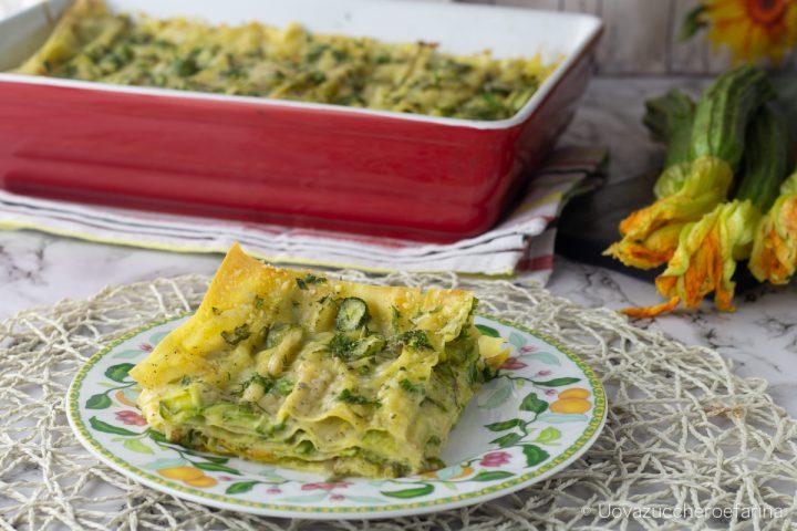 lasagne zucchine besciamella vegetale intolleranza lattosio