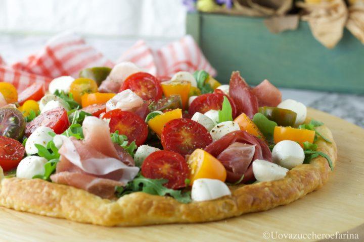 pizza pasta sfoglia rucola pomodorini ricetta facile