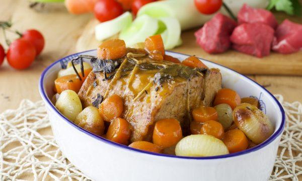 Arista con cipolline e carote