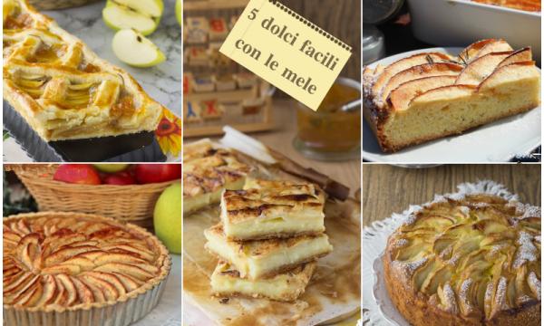 Cinque dolci facili con le mele