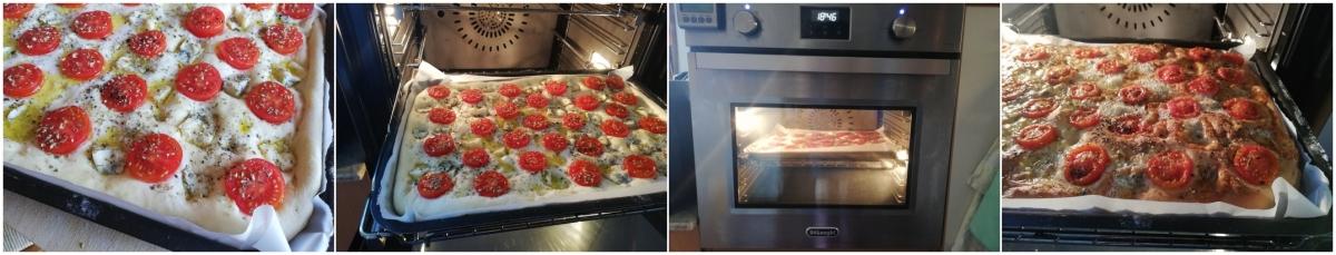 focaccia pomodorini gorgonzola passo passo cottura Uovazuccheroefarina