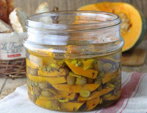 Zucca sott'olio con olive taggiasche