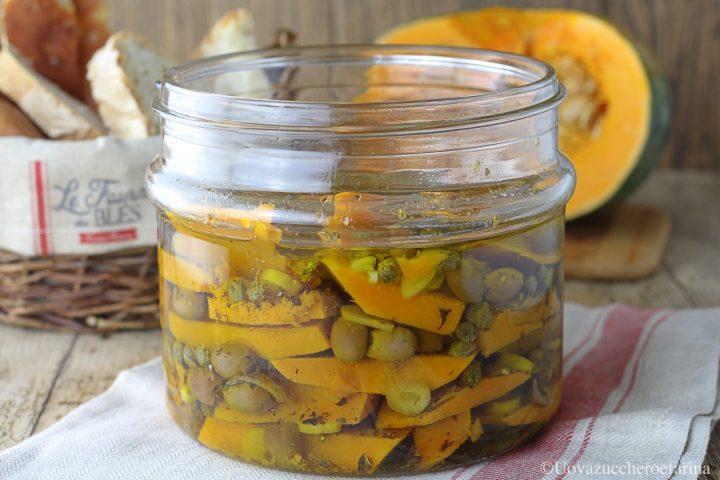 zucca sott'olio olive taggiasche