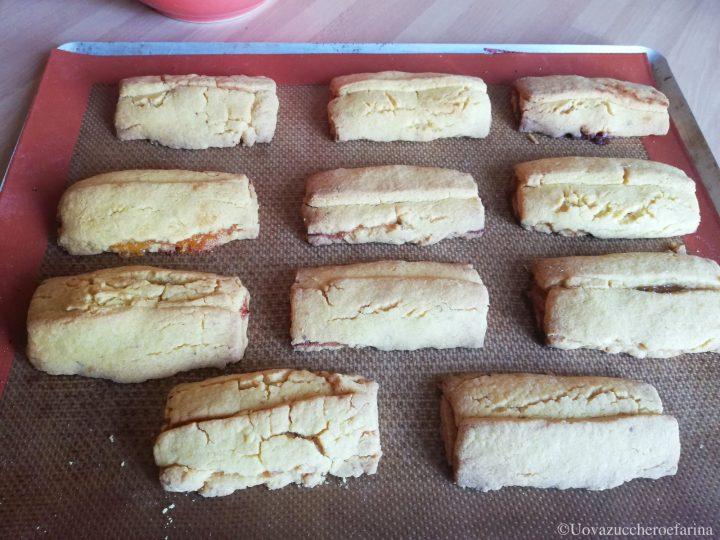 barrette pasta frolla marmellata arancia cottura