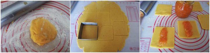 barrette pasta frolla marmellata arancia impasto