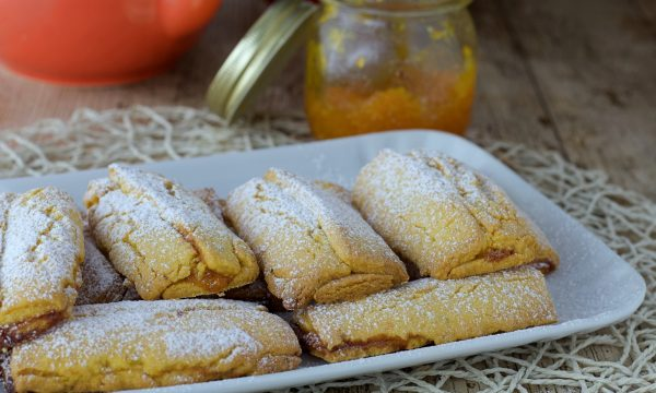 Barrette di pasta frolla con marmellata d'arancia