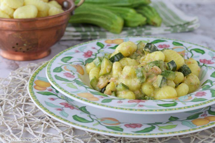 gnocchi salmone zucchine ricetta