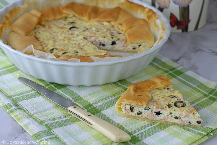 torta salata prosciutto cotto olive ricetta