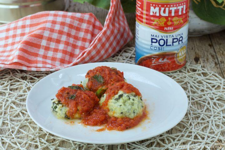 gnudi ricotta spinaci pomodoro Mutti
