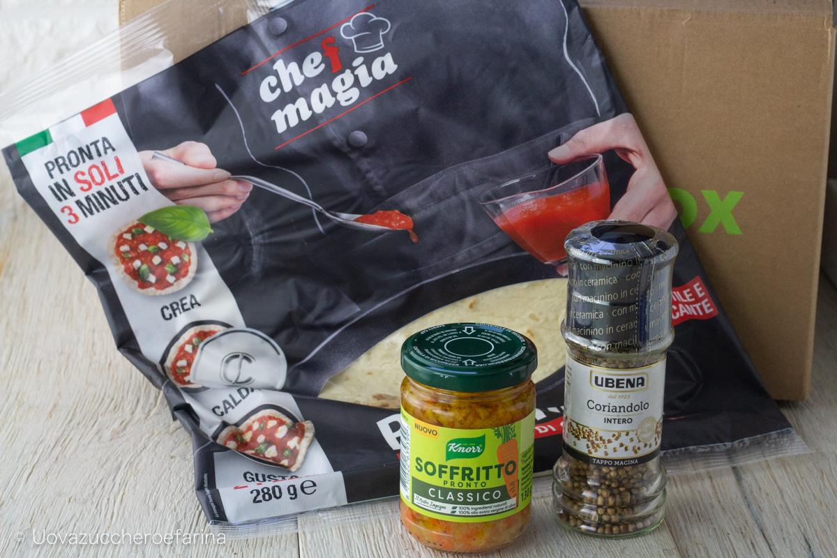 degustabox Novembre 01 base pizza soffritto coriandolo