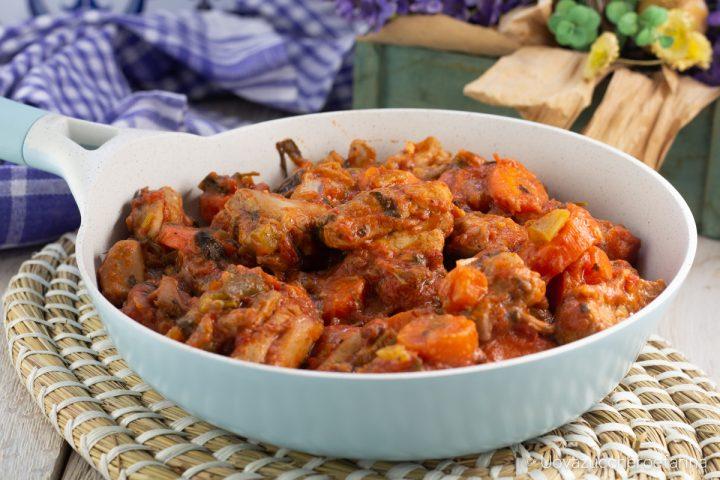spezzatino di pollo con verdure ricetta