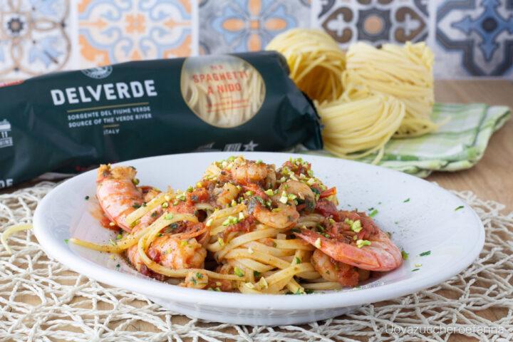 linguine gamberi pistacchi ricetta Valverde
