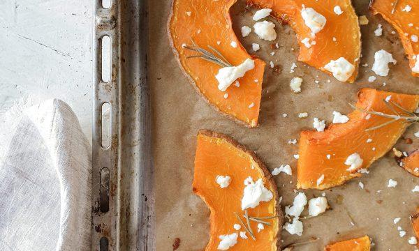 Zucca e feta al forno