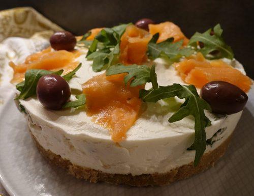 Cheesecake alla rucola e salmone