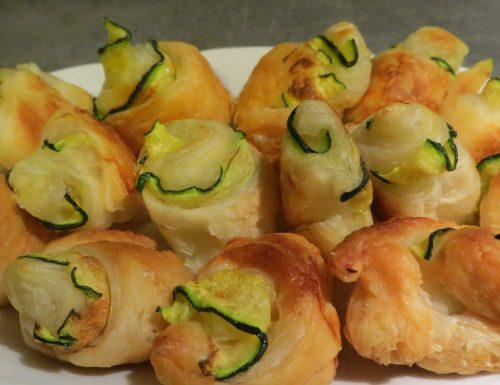 Rotolini di zucchine e pasta sfoglia
