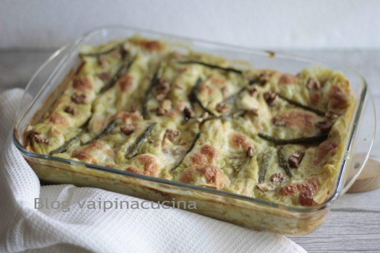 Lasagna asparagi e noci