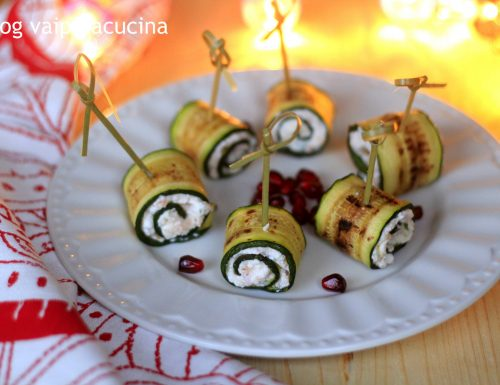 Zucchine grigliate e farcite al salmone