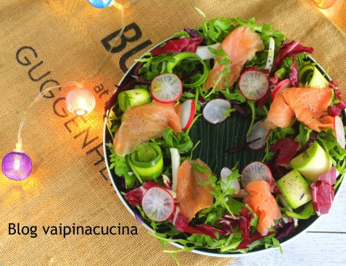 Antipasto di salmone rucola e ravanelli