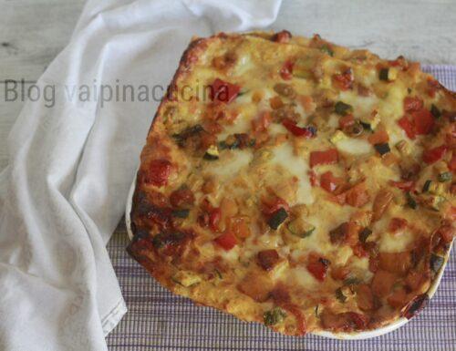 Lasagna con verdure cotte al forno
