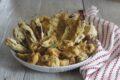 Carciofi e radicchio in pastella