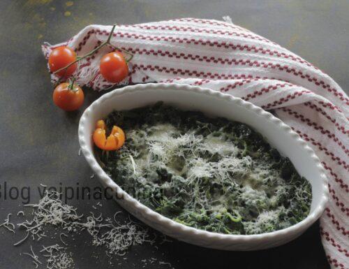 Spinaci freschi burro e parmigiano