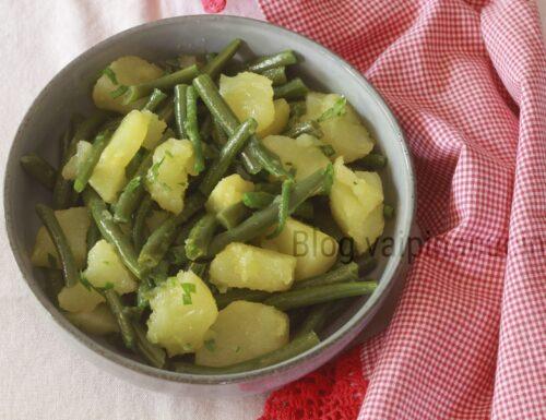 Contorno fagiolini e patate lesse