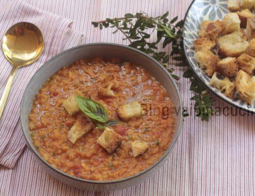 Zuppa di lenticchie rosse