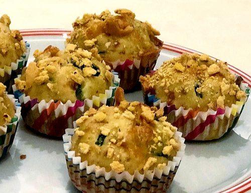 Muffin salati bio zucchine e fontina