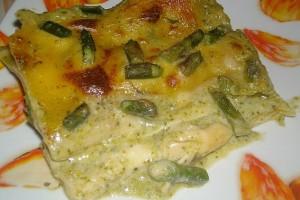 Lasagne con pesto e asparagi