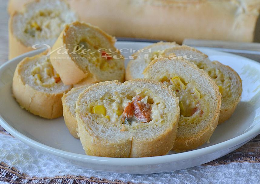 Rotolini di pane farciti ricetta senza cottura