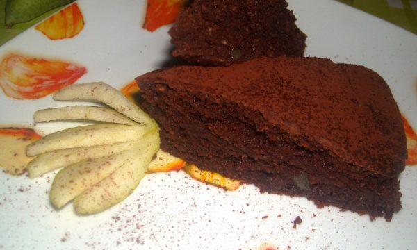 torta al cioccolato con ricotta e pere ricetta leggera