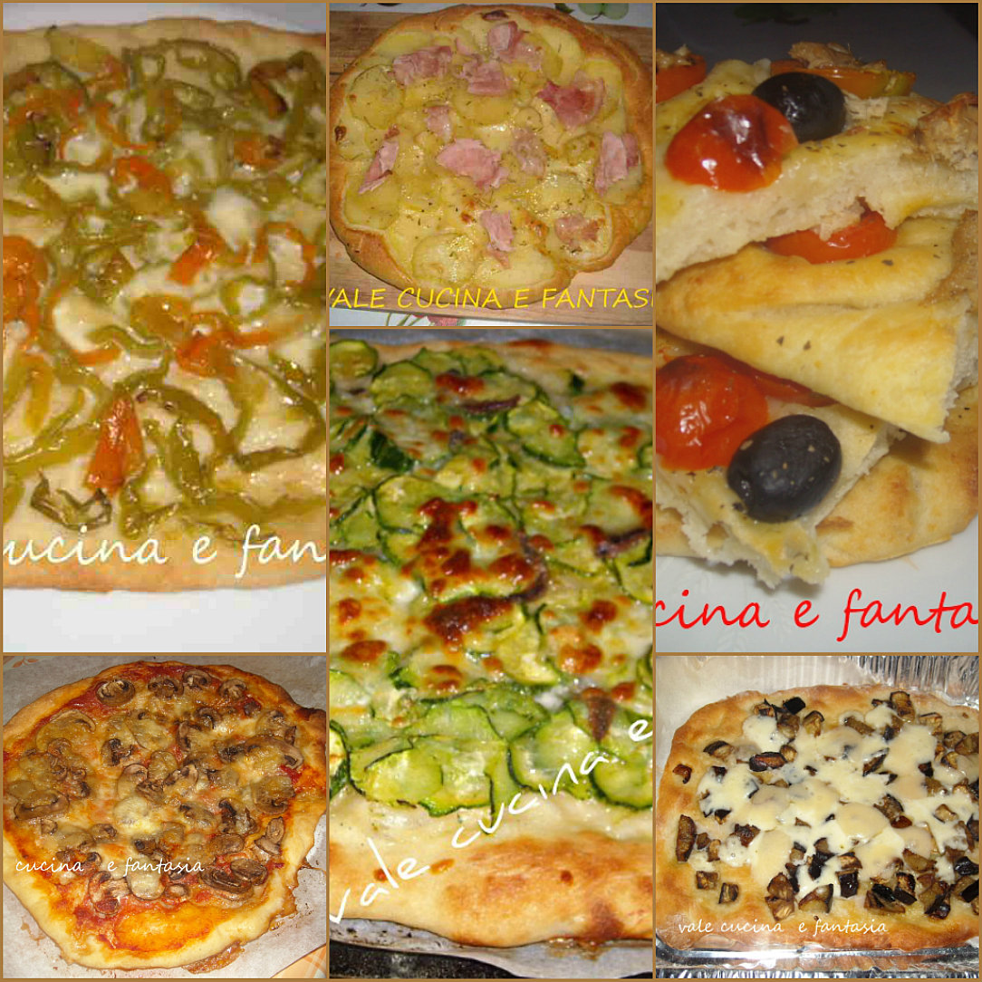 Collage pizze