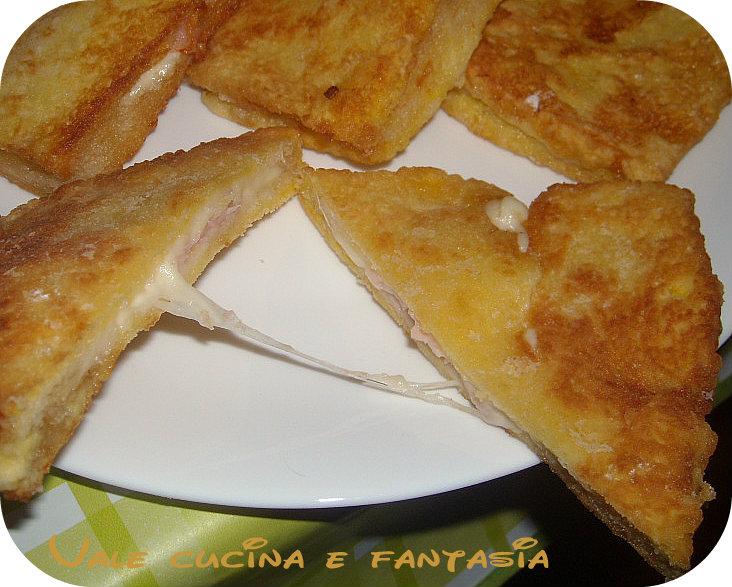 mozzarella in carrozza con prosciutto cotto ricetta sfiziosa