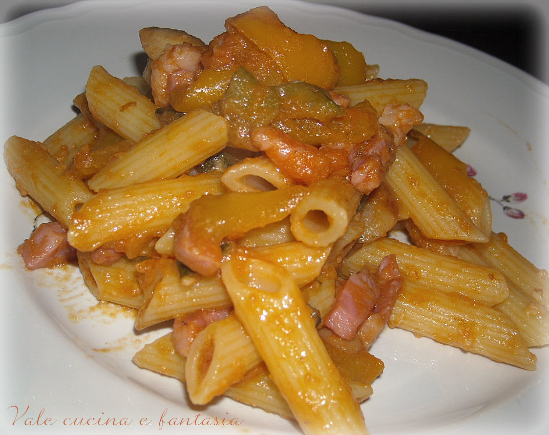 Ricetta pasta e zucca rossa