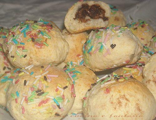 Panini con cuore alla nutella