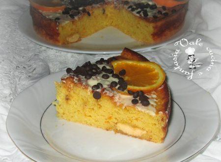 Torta all'arancia e doppio cioccolato