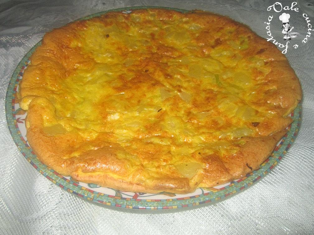 Frittata al forno con porri e patate