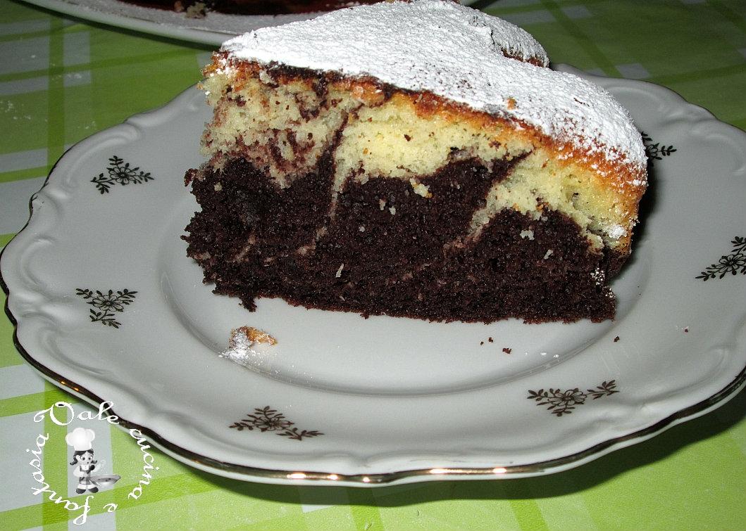 torta variegata al cacao e cocco vale cucina e fantasia