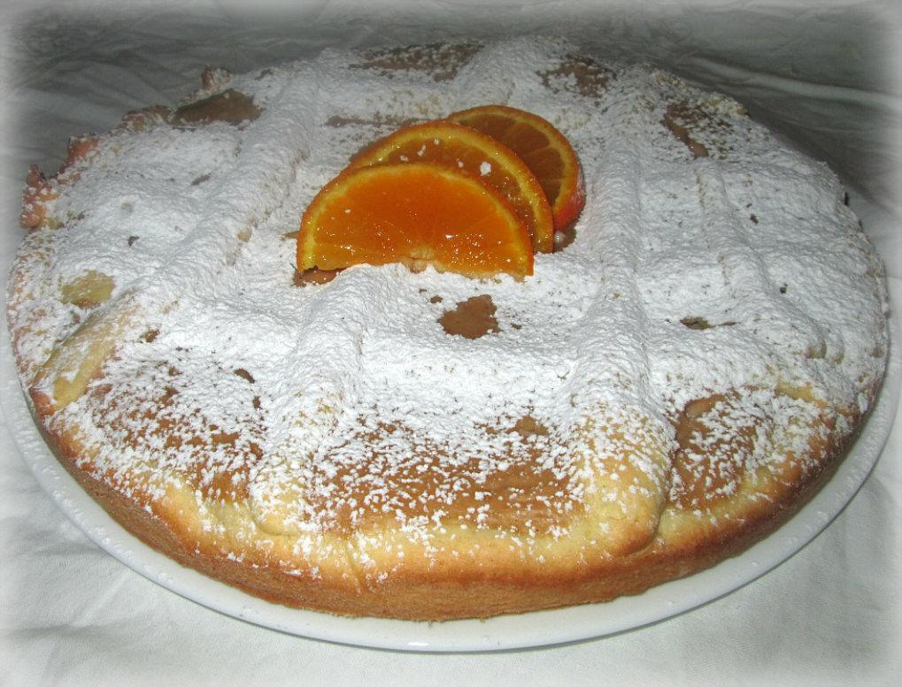 crostata morbida con crema all'arancia e cannella vale cucina e fantasia