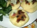 focaccine morbide con funghi e pancetta,vale cucina e fantasia