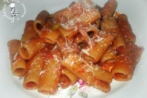 Pasta con piselli,pancetta e pecorino