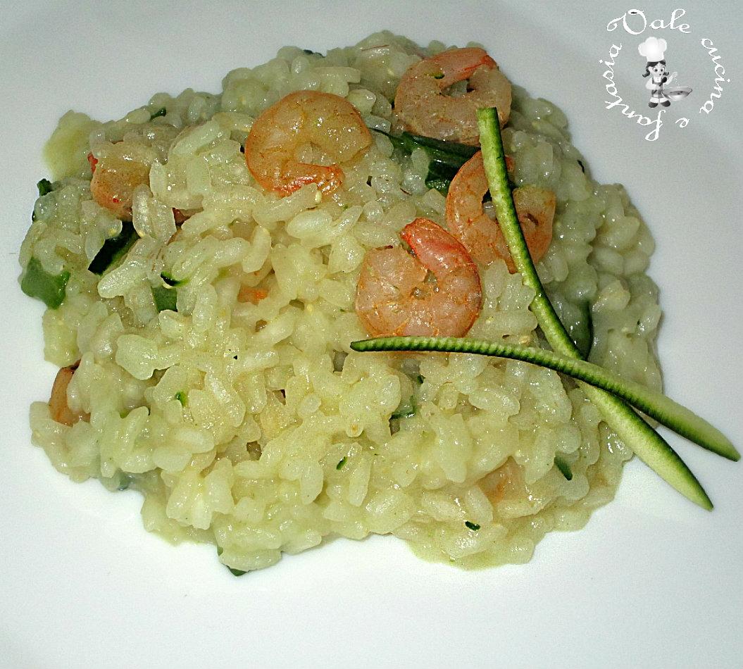 Risotto con zucchine e gamberetti vale cucina e fantasia - Cucina con vale ...